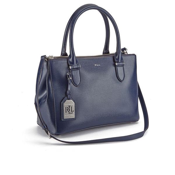 93081e587591 Lauren Ralph Lauren Women s Newbury Double Zipper Shopper Bag - Navy  Image  2