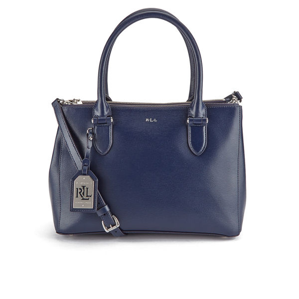 16a173c4a7ef6 Lauren Ralph Lauren Women s Newbury Double Zipper Shopper Bag - Navy  Image  1