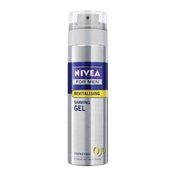 NIVEA FOR MEN Q10 REVITALISING SHAVING GEL (200ML)