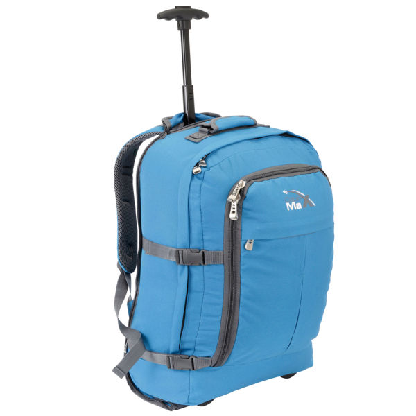 Cabin max lyon trolley bag blue mens accessories for Cabin bag backpack