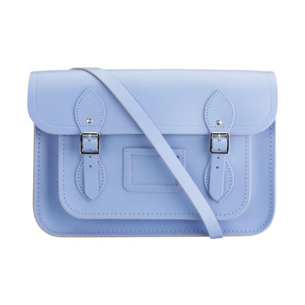 The Cambridge Satchel Company 13 Inch Leather Satchel - Bellflower Blue