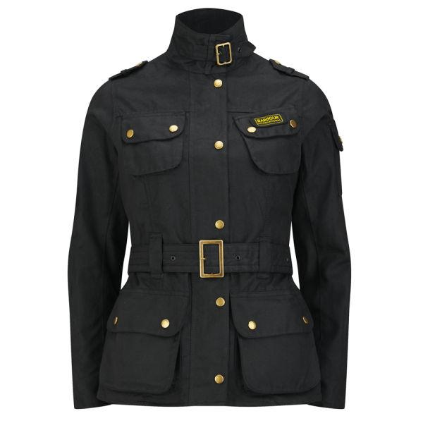 Barbour International Women's Union Jack Waxed Jacket - Black