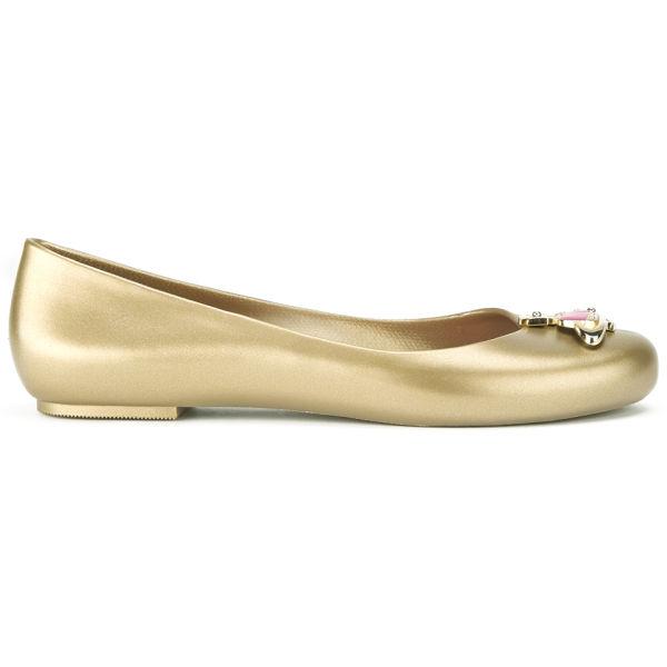 Vivienne Westwood for Melissa Women's Ballerina Flats - Gold Matt