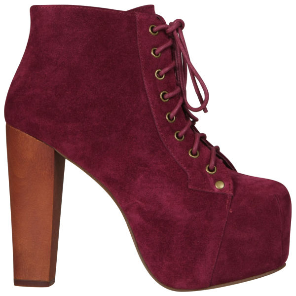 jeffrey campbell women 39 s lita shoes red wine suede free uk delivery allsole. Black Bedroom Furniture Sets. Home Design Ideas