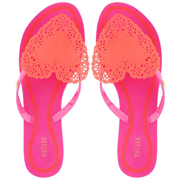 Melissa Women's Harmonic Heart Flip Flops - Pink