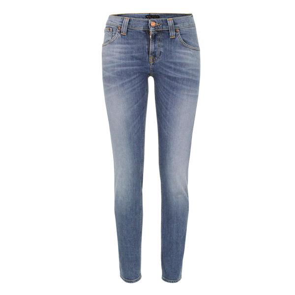Nudie Women's Tight Long John Organic Skinny Jeans - Light Faded
