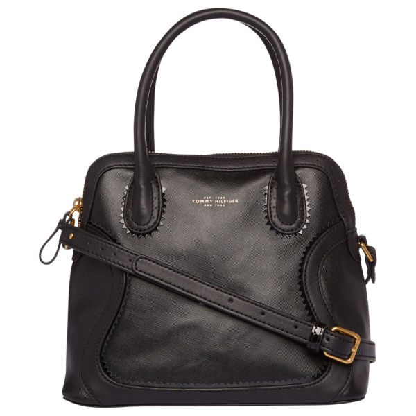 3215682c68d1 Tommy Hilfiger Women s Blaine Small Leather Duffle - Black  Image 1