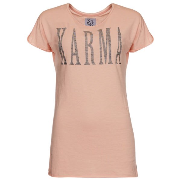 Zoe Karssen Women's Karma Loose Fit Rolled Sleeve T-Shirt - Coral Pink