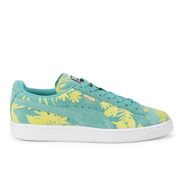 Puma Women's Suede Classic Tropicalia Trainers - Electric Green