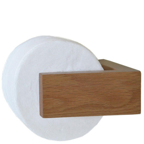 wireworks natural oak toilet roll holder image 2