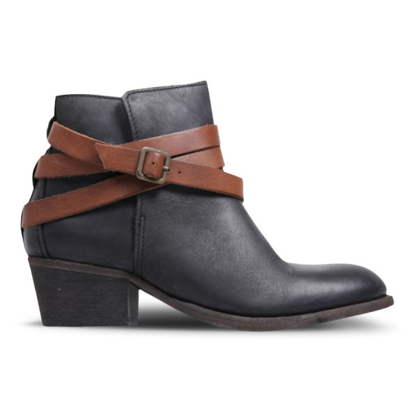 H Shoes by Hudson Women's Horrigan Leather Ankle Boots - Black