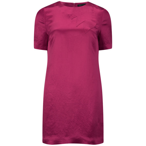 Marc by Marc Jacobs Women's A-Line Crew Neck Dress - Strawberry Daiquiri