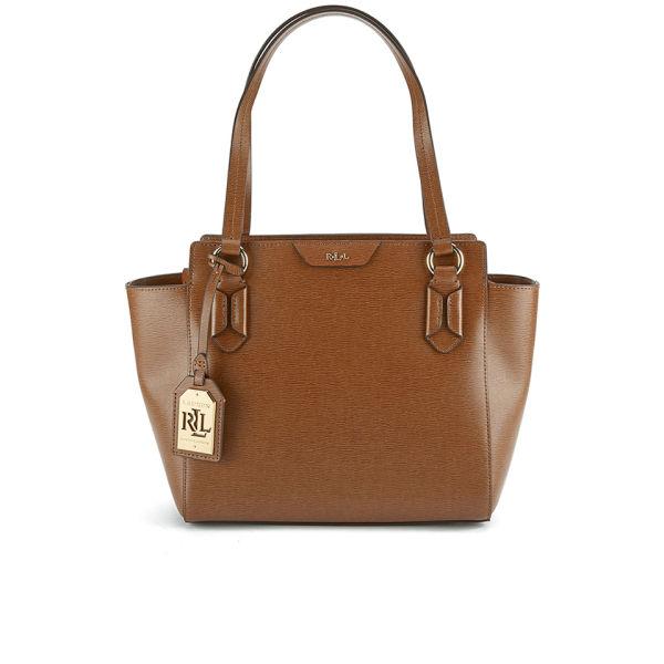 Lauren Ralph Lauren Women s Tate Modern Shopper Bag - Tan Cocoa  Image 1 aa88d09852
