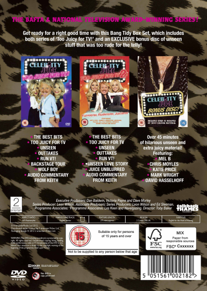 Celebrity Juice Too Juicy For TV 2! DVD - find it cheaper ...
