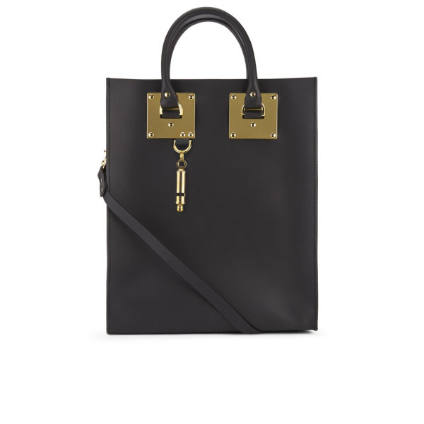 Sophie Hulme Women's Hardware Leather Tote Bag - Black
