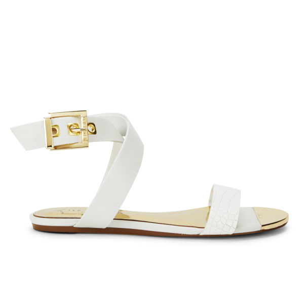 Ted Baker Women's Tabbey Leather Sandals - White Leather