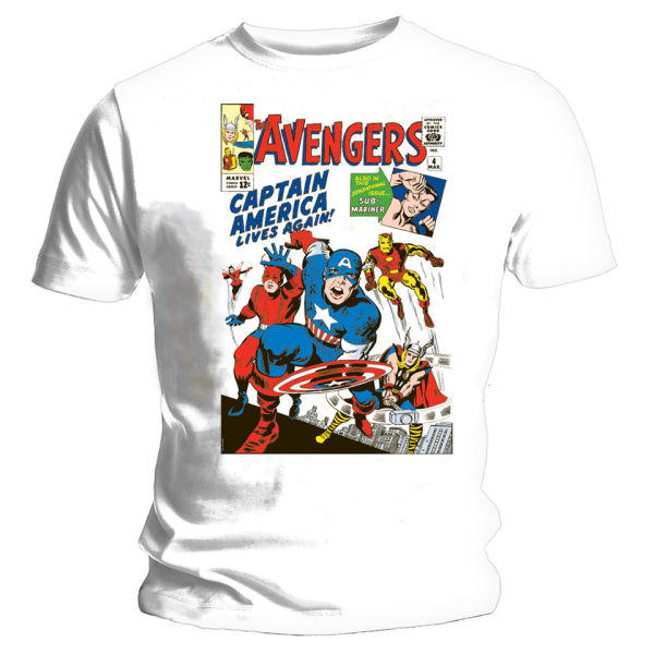 Classic Book Cover Tee Shirts ~ The avengers issue classic cover t shirt white iwoot