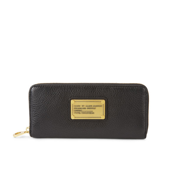 Marc by Marc Jacobs Classic Q Leather Slim Zip Around Purse - Black
