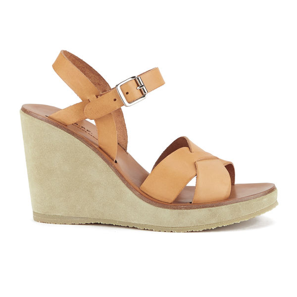A.P.C. Women's Juliette Wedged Sandals - Natural Beige