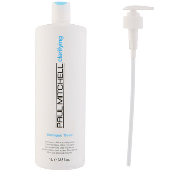 Paul Mitchell Shampoo Three (1000ml) with Pump (Bundle)