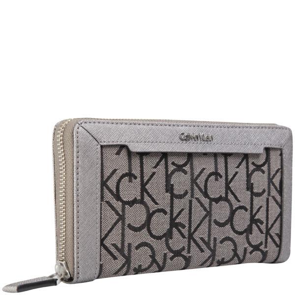 82c2c3afb8 Calvin Klein Women's Jen 1 Large Wallet - Pewter: Image 2