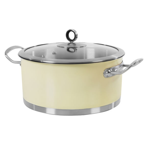Morphy Richards 46372 Accents Casserole Dish - Cream - 24cm