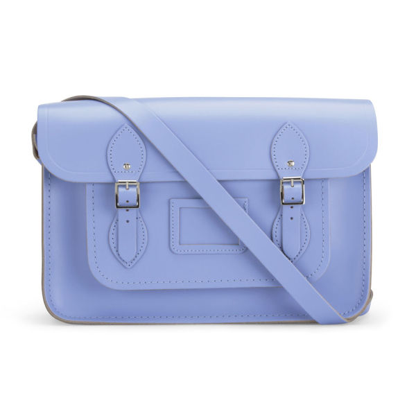 The Cambridge Satchel Company 14 Inch Classic Leather Satchel - Bellflower Blue