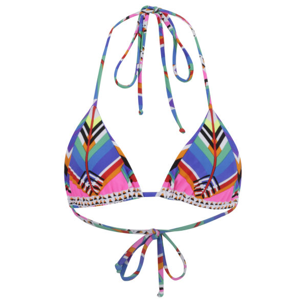 Mara Hoffman Women's Tie Side Bikini Top - Kites Pink