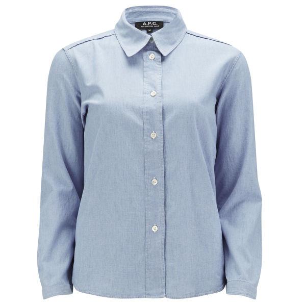 A.P.C Women's Chambray Shirt - Indigo