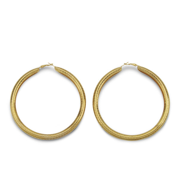 New Stylish Gold Hoops Earrings For Women 2014  NationTrendzCom