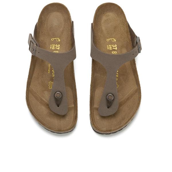 2b6a915e5c4 Birkenstock Women s Gizeh Toe-Post Leather Sandals - Mocha  Image 2