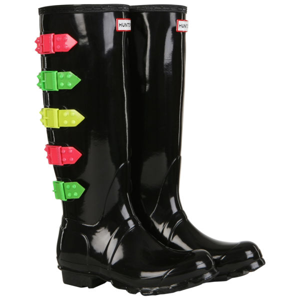 Hunter Women's Festival Tall Wellington Boots - Neon