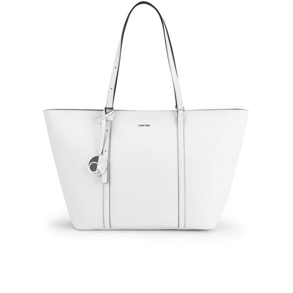 b2a6e4d6a3 Calvin Klein Sofie E/W Leather Tote - White: Image 1