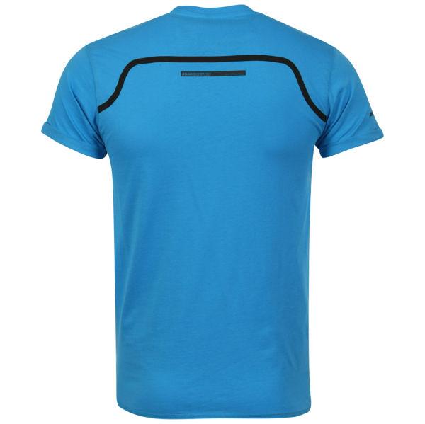 Jack jones men 39 s gale stripe insert t shirt aqua blue for Aqua blue mens dress shirt