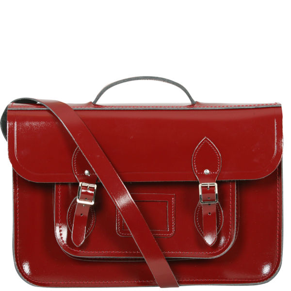 The Cambridge Satchel Company 15 Inch Leather Satchel - Oxblood Patent