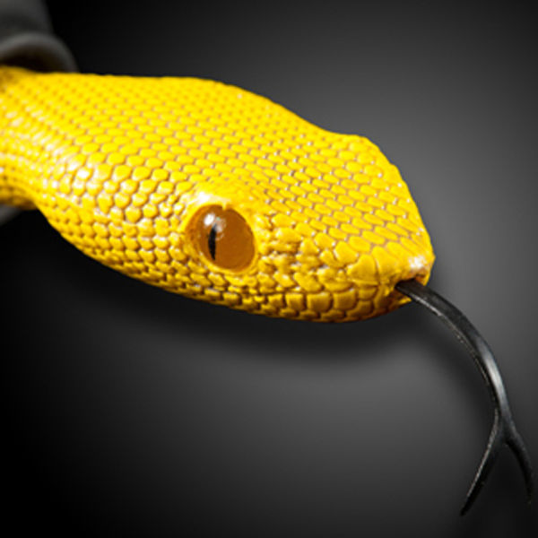 Quarkie Earphones - Viper Head Yellow