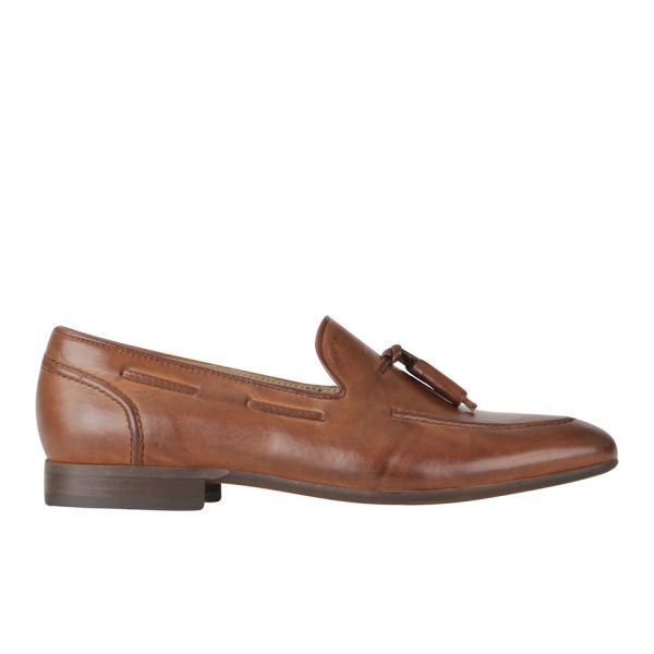 H Shoes by Hudson Men's Pierre Leather Tassel Loafers - Tan
