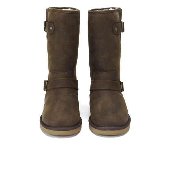 UGG Women's Sutter Waterproof Leather Buckle Boots - Toast: Image 2