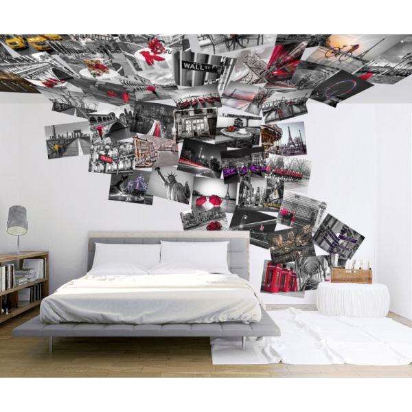 Creative Collage Cityscene 64 Piece Wallpaper
