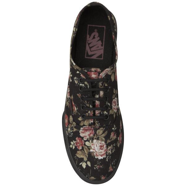 Vans Women s Authentic Lo Pro Floral Trainers - Black  Image 6 c3657ba3c428
