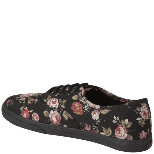a4cf0dfe3c9025 Vans Women s Authentic Lo Pro Floral Trainers - Black  Image 2