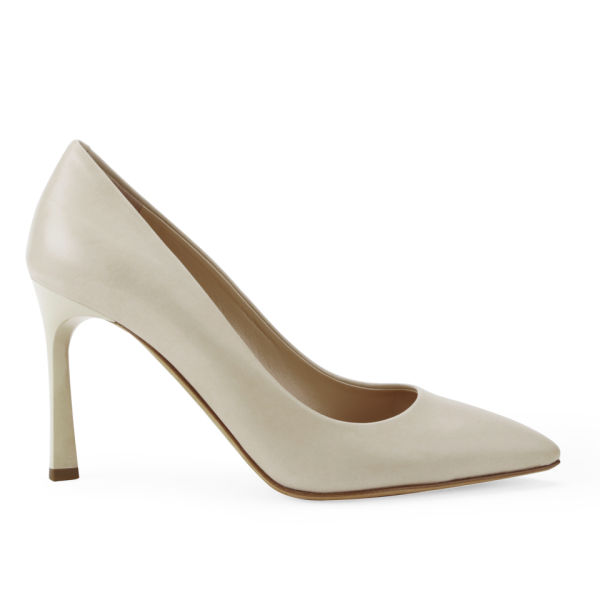 BOSS Hugo Boss Women's Bonette-C Leather Heeled Court Shoes - Light Beige