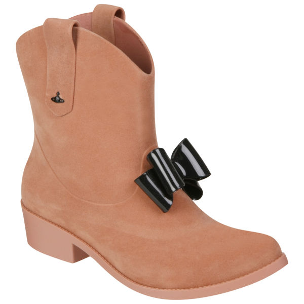 Vivienne Westwood for Melissa Women's Protection Bow Heeled Cowboy Boots - Nude