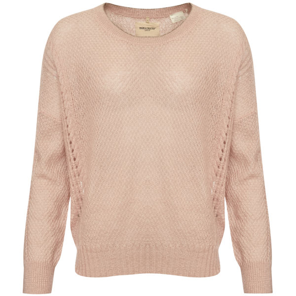 Levi's Made & Crafted Women's Figment Misty Rose Crew Knitwear - Pink