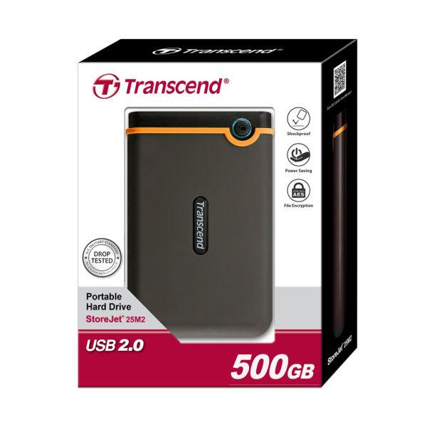 Transcend StoreJet 25M2 500GB External USB 20 Hard Drive