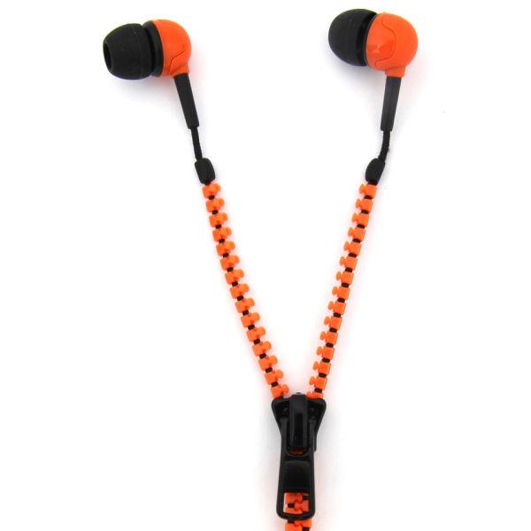 Zip Earphones - Orange/Black