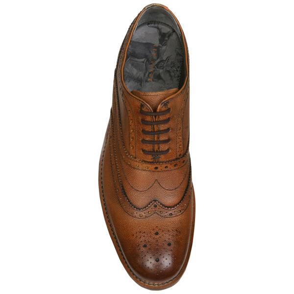 f21b8a1b6da56 Ted Baker Men s Guri 5 Leather Wingcap Oxford Brogues - Tan Clothing ...
