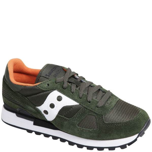 ebe9646d41384 Saucony Men's Shadow Original Trainers - Dark Green/White | Buy ...