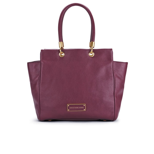 Marc by Marc Jacobs Leather Too Hot To Handle Bentley Hardware Tote Bag - Madder Carmine
