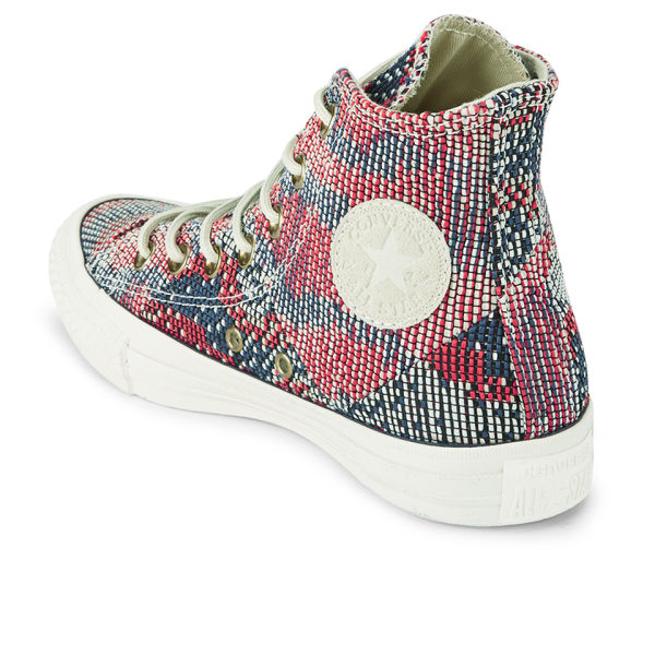 81a20be777fd Converse Women s Chuck Taylor All Star Woven Multi Panel Hi-Top Trainers -  Carnival